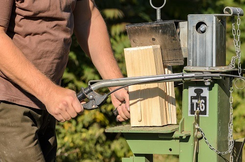 Wood Cutting With Log Splitter